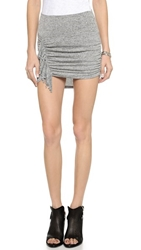 Riller And Fount Jones Asymmetrical Fringe Miniskirt Pebble