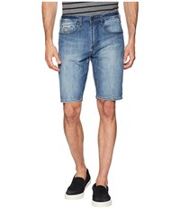Buffalo David Bitton Parker X Slim Fit Shorts Veined And Sanded Blue