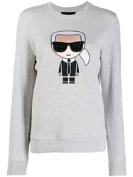 Karl Lagerfeld Embroidered Sweatshirt Grey