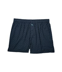 Tommy Bahama Island Washed Cotton Woven Boxer Tiny Fish Underwear Blue