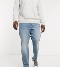Only And Sons Skinny Fit Jeans In Light Wash Blue
