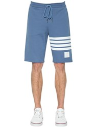 Thom Browne Cotton Jersey Shorts Blue