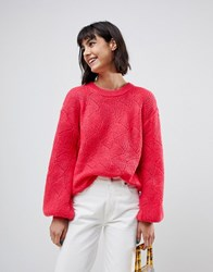 B.Young Balloon Sleeve Jumper Pink