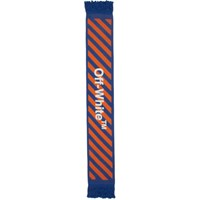 Off White Blue And Orange Arrows Scarf