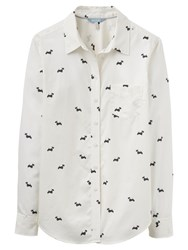 Joules Lucie Scotty Dog Print Shirt Cream