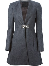 Philipp Plein 'Daniela' Coat Grey