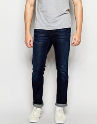 Boss Orange Jeans In Slim Fit Dark Wash Blue