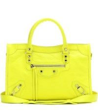 Balenciaga Classic City S Leather Tote Yellow