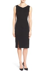 Women's Classiques Entier Italian Ponte Sheath Dress With Piping