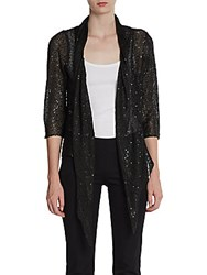 Harrison Morgan Drape Front Cardigan Black