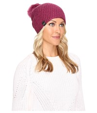 Ugg Crochet Beanie With Lurex Sequins Toscana Pom Bougainvillea Multi Beanies Purple