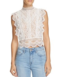 Lucy Paris Abigail Lace Cropped Top 100 Exclusive White