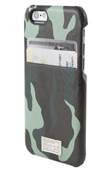 Hex 'Solo' Iphone 6 And 6S Wallet Case Blue Marine Camo Leather