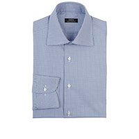 Fairfax Micro Houndstooth Shirt Royal Blue