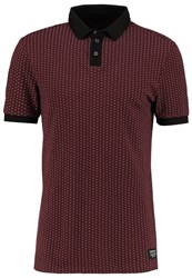 Tom Tailor Denim Polo Shirt Deep Burgundy Red Dark Red