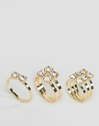 Pieces Diane Stacking Rings Gold