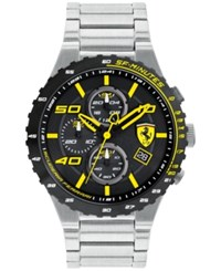 Ferrari Men's Chronograph Speciale Evo Chrono Stainless Steel Bracelet Watch 45Mm 0830362 Silver