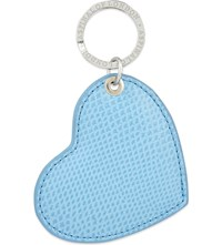 Aspinal Of London Leather Heart Keyring Cream
