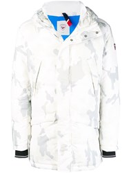 Rossignol Camouflage Print Hooded Coat White