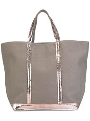 Vanessa Bruno Sequin Embellished Shopper Tote Nude Neutrals