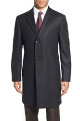Nordstrom 'Sydney' Wool Twill Topcoat Gray