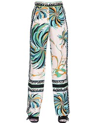Emilio Pucci Floral Printed Silk Twill Pants