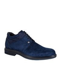 Stefano Ricci Crocodile Trimmed Suede Ankle Boots Male Blue