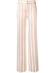 Peter Pilotto Lurex Striped Trousers Pink