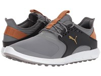 Puma Ignite Power Sport Quiet Shade Team Gold Black Men's Golf Shoes Quiet Shade Puma Team Gold Puma Black