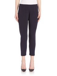Pauw Cropped Stretch Wool Trousers Navy