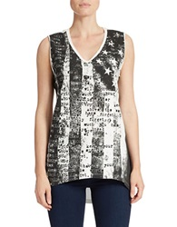 William Rast Flag Tank Top White