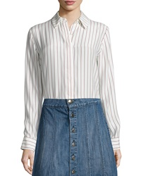 Frame Le Classic Pleat Shirt Gardena Stripe