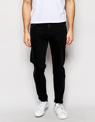 Weekday Sunday Drop Crotch Tapered Jeans In Tuned Black Tuned Black