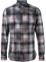 Lanvin Checked Shirt Grey