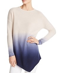 Bloomingdale's C By Asymmetric Dip Dye Cashmere Sweater 100 Exclusive Ivory