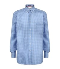 Paul And Shark Gingham Shirt Male Blue
