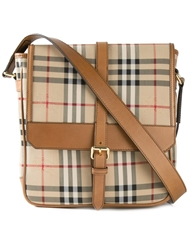 Burberry 'Horseferry Check' Messenger Bag Nude And Neutrals