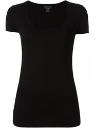 Majestic Filatures Scoop Neck T Shirt Black