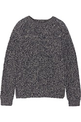 Goat Knitted Wool Sweater Blue