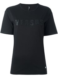 Versus Applique Logo T Shirt Black