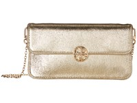 Tory Burch Metallic Envelope Clutch Spark Gold Clutch Handbags Brown