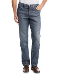 Brioni Dark Wash Stretch Denim Jeans Navy