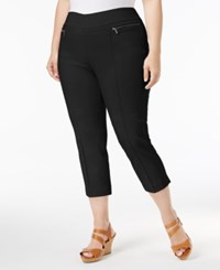 Style And Co Plus Size Pull On Capri Pants Only At Macy's Deep Black