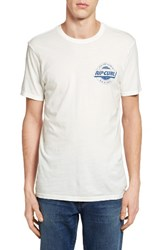 Rip Curl Men's X Drive Heritage Graphic T Shirt Off White