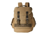 Toms Savanna Canvas Backpack Khaki Zigzag Backpack Bags Brown