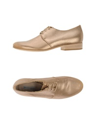Vic Lace Up Shoes Gold