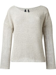 Woolrich Boat Neck Jumper Nude And Neutrals