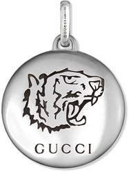 Gucci Blind For Love Charm In Silver Metallic