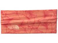 The North Face Dipsea Half Headband Burnt Coral Linear Floral Print Headband Orange