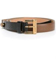 Etro Colour Block Belt Brown